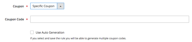 magento 2 specific coupon
