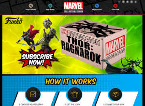 Funko Marvel Collectors Corps Homepage