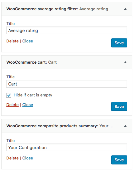 WooCommerce Widgets Avg Rating Cart Composite Products
