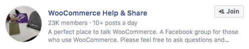 Woocommerce Help and Share Facebook