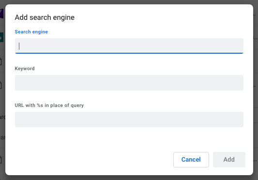 omnibox edit search engines add