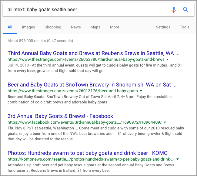 allintext baby goats seattle beer Google Search