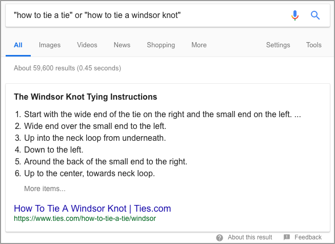 how to tie a tie or how to tie a windsor knot Google Search