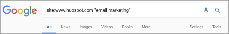 hubspot email marketing google site search