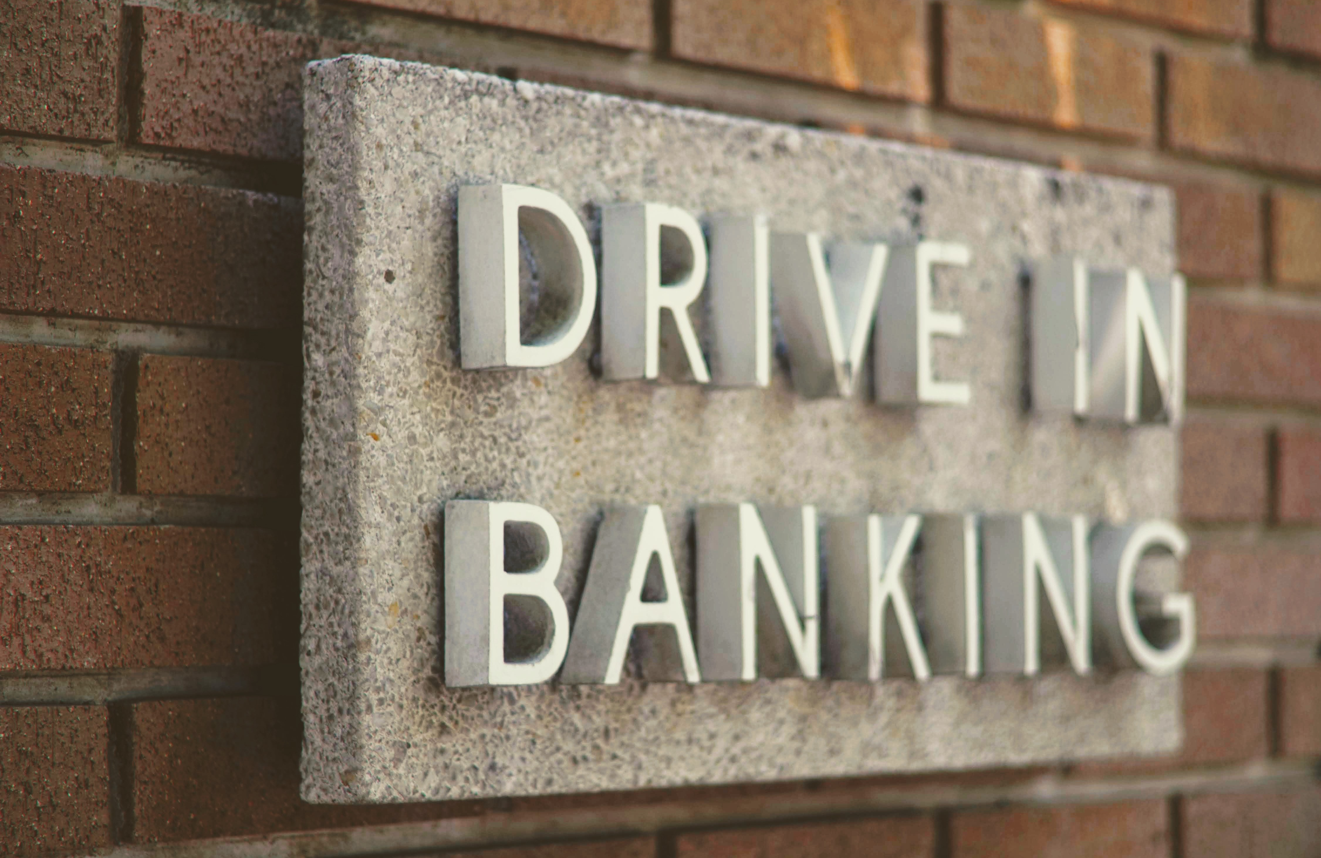 bank transfer woocommerce drive in banking sign
